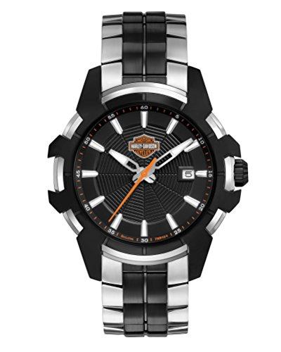 Harley Davidson Herren-Armbanduhr Analog Quarz Leder 78B124