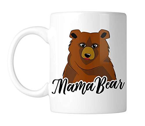 Taza de café única con diseño de oso de mamá interesante taza de café regalo de cumpleaños para su amiga 11 oz