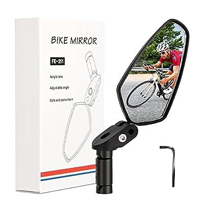 ACRUNU Bar End Bike Mirror, HD Bicycle Cycling Rearview Mirror, Universal Adjustable Rotatable safe Handlebar bike Rear view Mirror