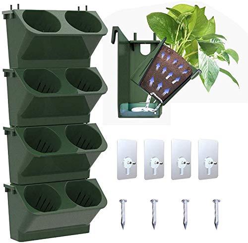 Jardinera montada en la Pared, Macetas Colgantes montadas en la Pared Verticales para macetas de jardín Jardinera Colgante de Pared