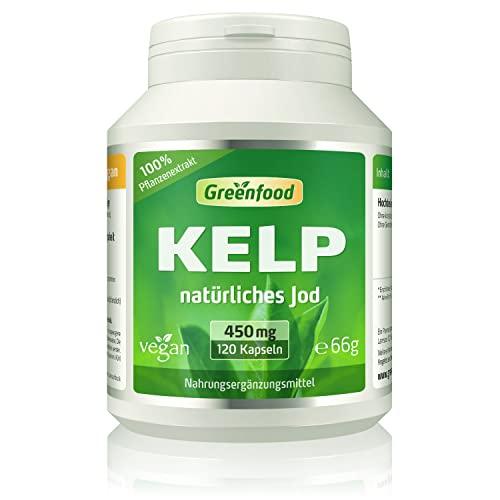 Greenfood Natural Products -  Kelp, 450 mg, 120