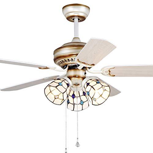 Ventilateurs de Plafond avec Lampe intégrée Éclairage De Ventilateur De Plafond Salon Salle À Manger avec Éclairage De Ventilateur Télécommande De LED, Éclairage De Ventilateur De Plafond Ventilateur