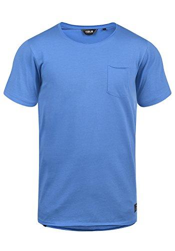 !Solid Andrej - Maglietta da Uomo, Taglia:M, Colore:Palace Blue (5612)