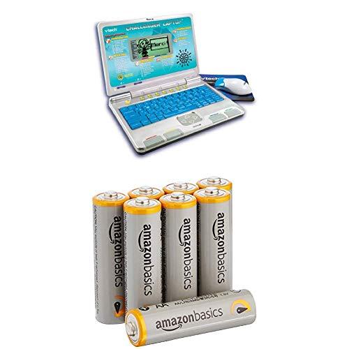 VTech Challenger Laptop - Blue with AmazonBasics Batteries