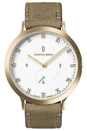 Lilienthal Berlin Armbanduhr L1 Gold/weiß/Khaki L01-102-B021B