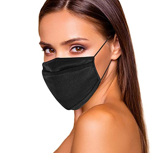 Face Mask for Women - Reusable Breathable & Washable Cloth has Filter Pocket USA