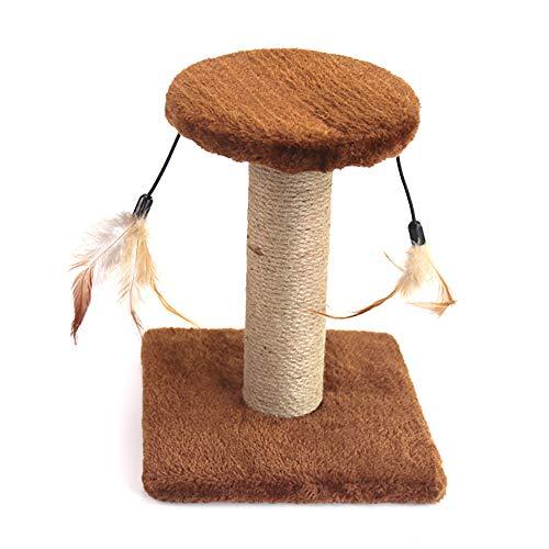 LDDPP Árbol de gato, árbol de gato condominio con postes de sisal rascador, gato escalando marco de muebles, muebles de torre de gato, centro de actividades para gatitos casa de juego (marrón)