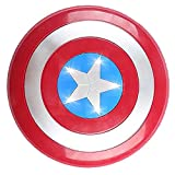 PRETAY Escudo de Vestuario de Capitán América, Escudo Captain America Escudo de Luz y Sonido 32 cm Réplica De Marvel Prop, Interactivo Entre Padres E Hijos Que Se Disfraza De Accesorios