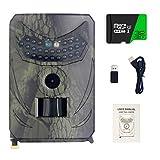 ADUGEN Fotocamera Selvatica WLAN, Telecamera di Caccia a infrarossi da 20 MP, Wildcamer Impermeabile IP66 con rilevatore di Movimento Visione Notturna, per la Caccia e la Guardia degli Animali