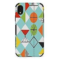 彩色中复古 Harlequin iphone11 / iPhone 11Pro / iPhone 11Pro Max/iPhone XS Max/iPhone XR / iPhone7適用 ケース携帯電話落下防止および傷のつきにくいファイバーレザー電話ケースに適しています