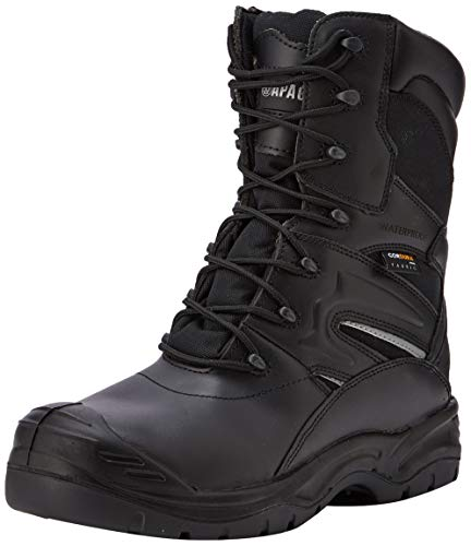 Apache Herren Combat Sicherheitsstiefel, Schwarz (Black), 45 EU