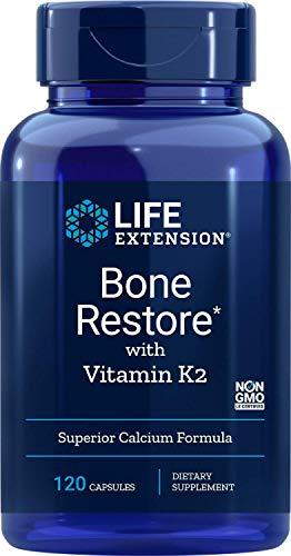 Life Extension, Bone Restore, como Vitamina K2, 120 Cápsulas