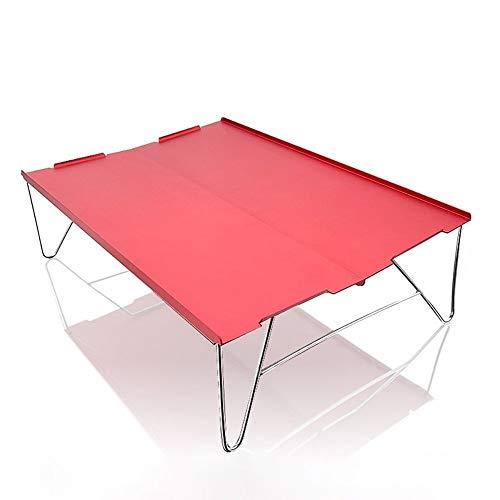 HHGO Outdoor draagbare klaptafel, veelzijdig, lichtgewicht aluminium bureau, indoor outdoor picknick partytafel campingtafel