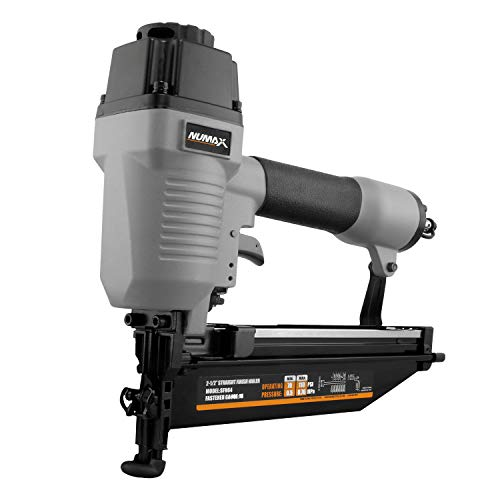 NuMax SFN64 Pneumatic 16-Gauge 2-1/2' Straight Finish Nailer Ergonomic and...