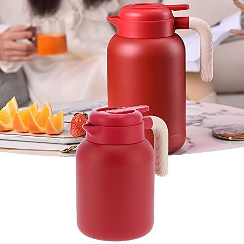 QiruIXinXi Jarra de café con Aislamiento, Jarra de Agua Caliente al vacío de Gran Capacidad de 1,5 l con Revestimiento de Acero Inoxidable, Botella térmica a Prueba(Rojo)