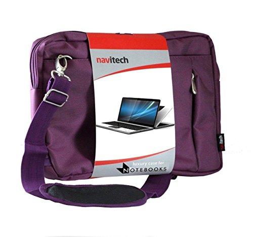 Navitech Sac de Transport Violet Ordinateur Compatible avecASUS C302CA-GU010 360 Degrees Rotatable Full HD Touchscreen Chromebook Flip 12.5 inch Notebook