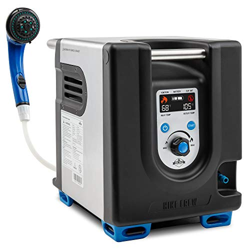 Hike Crew Portable Propane Water Heater & Shower Pump w/Built-in Battery | Compact Outdoor Cleaning...