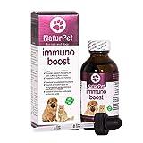 Naturpet Immuno Boost   Natural Pet Immune Support   K9 Immunity   Cat Immune Support  100% Natural, Safe, Effective Internal Cleanse & Antioxidant   100 ml Bottle with Dropper