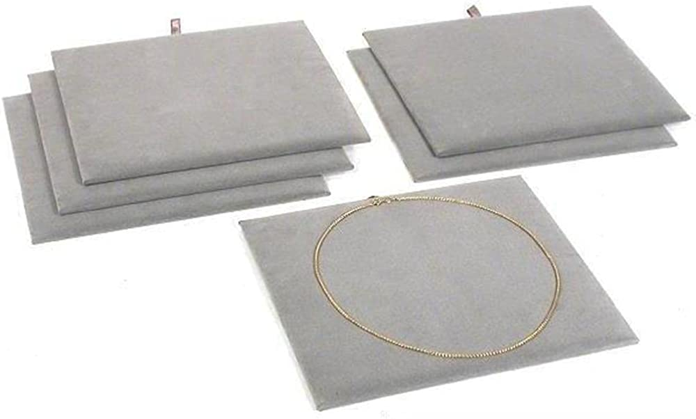 FindingKing 6 Jewelry Display Pad Tray Velvet Mail order Gray Showca Max 74% OFF Insert