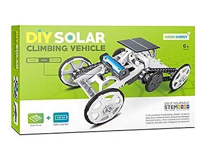 Aimoly STEM Educational Solar Robot - Green Energy DIY Science Solar Power Kits (Climb car)