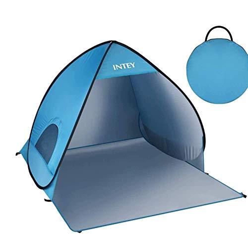 INTEY Tenda da Spiaggia Pop Up, Portatile, Impermeabile, 50 UPF Protezione UV, Leggero e Facile da Trasportare, può Essere Utilizzata per Campeggio, Giardino Domestico, Spiaggia(Blu)