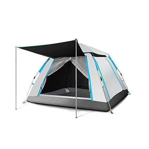 Jiamuxiangsi- Tent Buiten Camping 3-4 Personen Dikke Automatische Anti-storm Regen Thuis Camping 5 Open Raam 240x240x154cm -tent