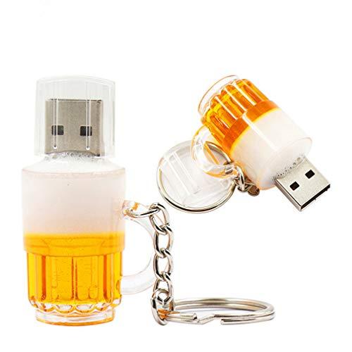 Shuda 1 pcs Flash USB Pen Drive Chiavette USB Forma di birra 2 GB/4 GB/8 GB/16 GB/32 GB Memory Stick USB Key size 32GB(Giallo)