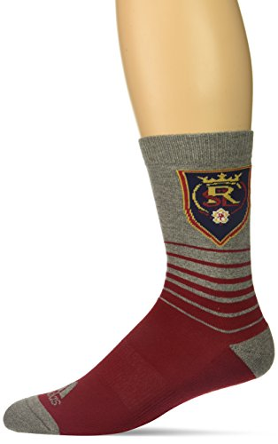 adidas Men's Jacquard Pattern Crew Socks, Red, Size 12-15