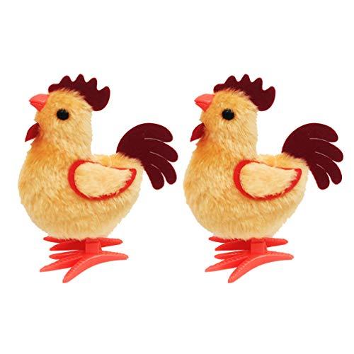Amosfun 2 stücke Kinder Wickeln Huhn uhrwerk Spielzeug Ostern springen küken plüsch hahn Spielen Spielzeug für Kinder Kleinkinder