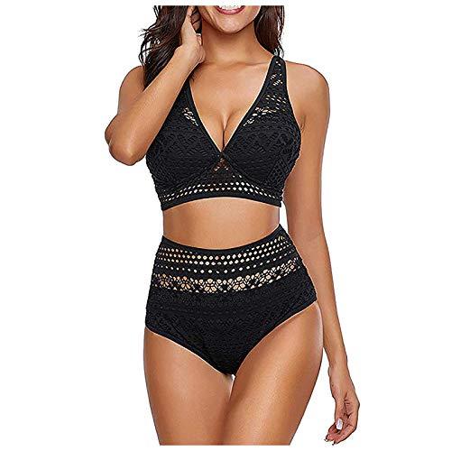 Shopler Damen Bikini Set Schnürung Bikini Triangel Bikini Bademode Bikinioberteil Zweiteiliger Raffung Bauchweg Strandmode Zweiteiliger Badeanzug Swimsuit