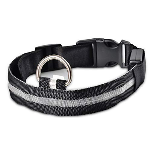Hoge kwaliteit 6 kleuren gemakkelijk snap-in gesp LED Light Dog Pet Night Safety Bright Flashing Verstelbare nylon halsband