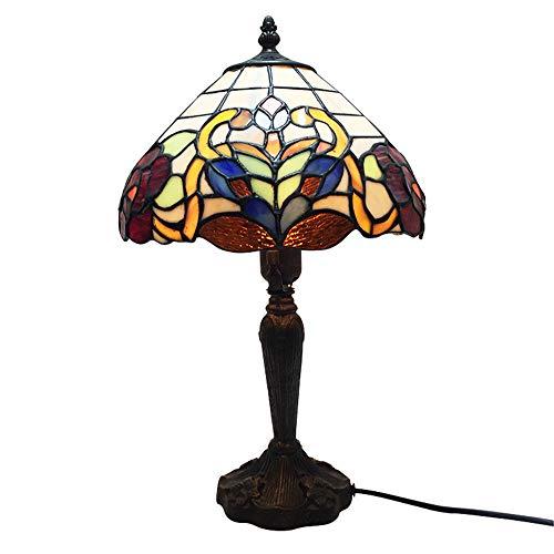 Tafellamp in Tiffany-stijl, 10 inch handmatige soldeersplitsing Glas-in-lood bureaulamp voor slaapkamer, woonkamer en studeerkamer