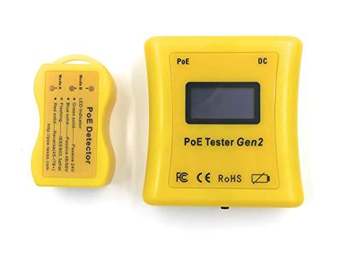 Inline Power over Ethernet Voltage and Current Tester (POE TESTER DETECTOR GEN2)