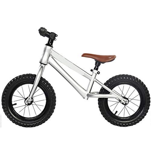 LFFME Bicicleta De Equilibrio De 12-16 Pulgadas Marco De Acero Al Carbono, Sin Pedal Bicicleta De Entrenamiento De Equilibrio para Caminar para Niños De 2 A 8 Años,A,12