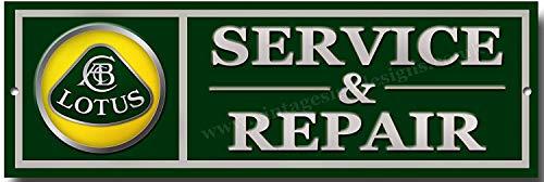 Lotus Service und Reparaturen Qualität Metallschild
