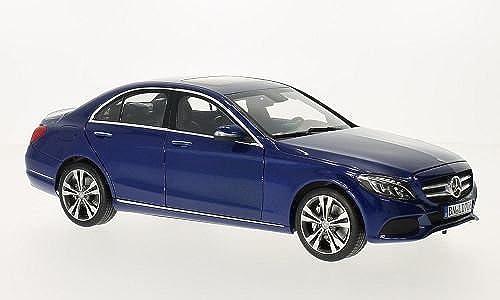 Mercedes C-Klasse (W205), metallic-blau, 2014, Modellauto, Fertigmodell, Norev 1 18