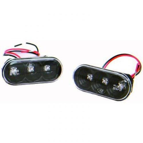 répétiteur design, noir, LED VW+SEAT, 96-01 LED