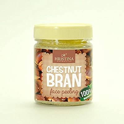 Face Scrub Chestnut Bran Face Peeling - 100% Natural - Very effective on acne prone skin. 200ml by Hristina Cosmetics