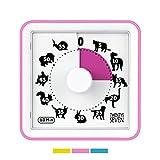 Temporizador de cuenta regresiva rosa bebé de 7,6 cm, temporizador visual de 60 minutos, herramienta educativa para niños, temporizador de examen, alarma fuerte, para juegos de tarea, para niñas