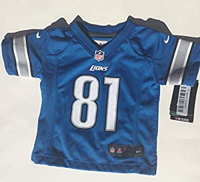 Outerstuff Calvin Johnson Detroit Lions #81 NFL Toddler Sizes 2-4T Game Jersey Blue (Toddler 3T)