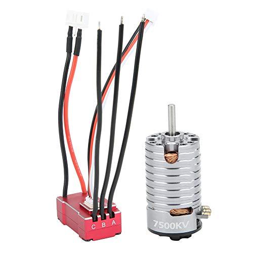 VGEBY RC Motor Set, 1: 24/1: 28/1: 32 Scale 2 Pole Metal Remote Control Vehicle Brushless Motor + 18A Red ESC Set RC Car Repuesto de Repuesto de Accesorios