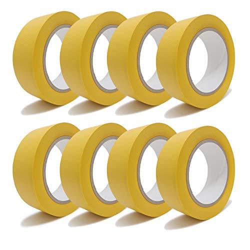 gws Putzband PVC gerippt Abklebeband von der Hand reißbar | Maler-Schutzband in Profi-Qualität | versch. Farben & Breiten | Länge: 33 m (8, gelb 38mm)