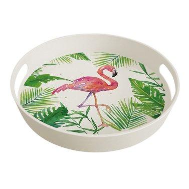 PPD 603352, plateau - bambou écologique - motif: Flamant rose tropical
