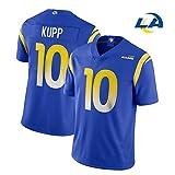 10# Kupp Rams pour Les Maillots de Rugby de Football américain pour Hommes, Maille Respirante en Sueur personnalisé Votre nom et Votre numéro pour Adulte/Femme/garçon-Blue-L