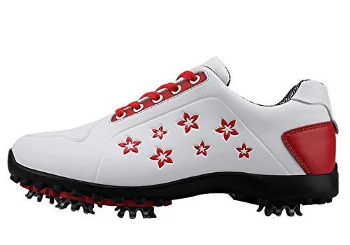 Zapatos de Golf a Prueba de Agua Florales para Mujer con Picos