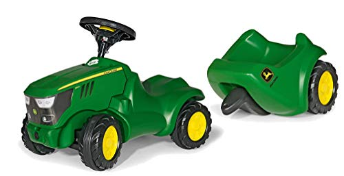 Rolly Toys Rutschauto Set Traktor John Deere Minitrac + Anhänger