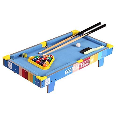 CHENSHJI Billiard-Tisch Desktop-Billard Snooker-Tisch Billard-Spiel-Pool-Set Paket Kann An Einem Beliebigen Ort Anpassen (Color : Blue, Size : 69.5x13.5x37cm)