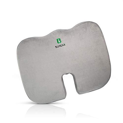 BODEXX® Sitzkissen extra dick – Coccyx Cushion für Büro und Auto inkl. E-Book – Memory Foam Seat Cushion mit kühlender Gelschicht