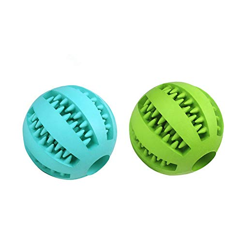 Bojafa 2Pack Best Dog Teething Toys Ball Nontoxic Durable Dog IQ Puzzle Chew Toys for Puppy Small Large Dog Teeth Cleaning/Chewing/Playing/Treat Dispensing