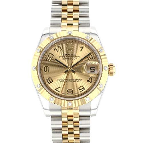 ロレックス ROLEX デイトジャスト 178313 シャンパンアラビア文字盤 中古 腕時計 レディース (W180240) [並行輸入品]
